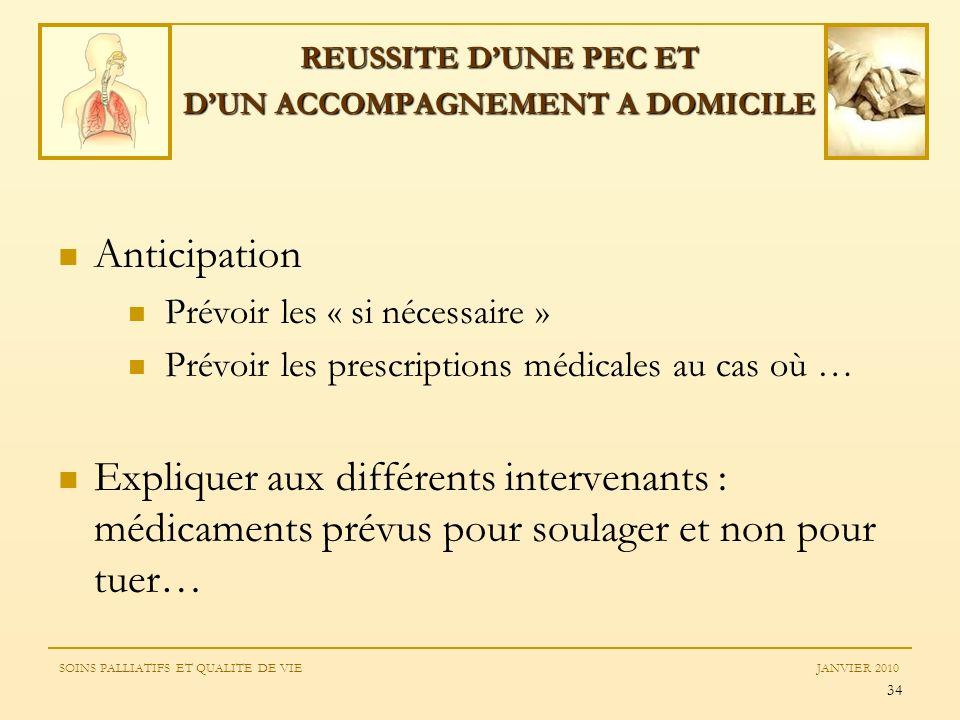 REUSSITE D'UNE PEC ET D'UN ACCOMPAGNEMENT A DOMICILE