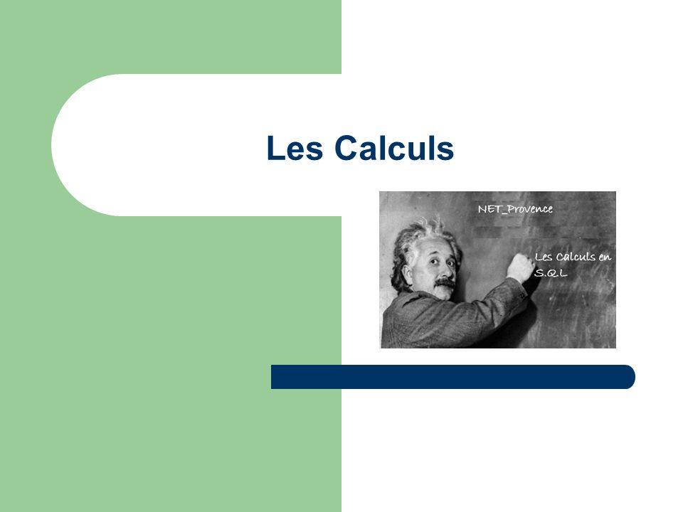 Les Calculs
