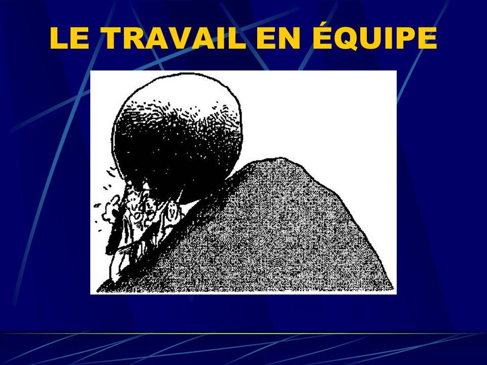 LE TRAVAIL EN ÉQUIPE
