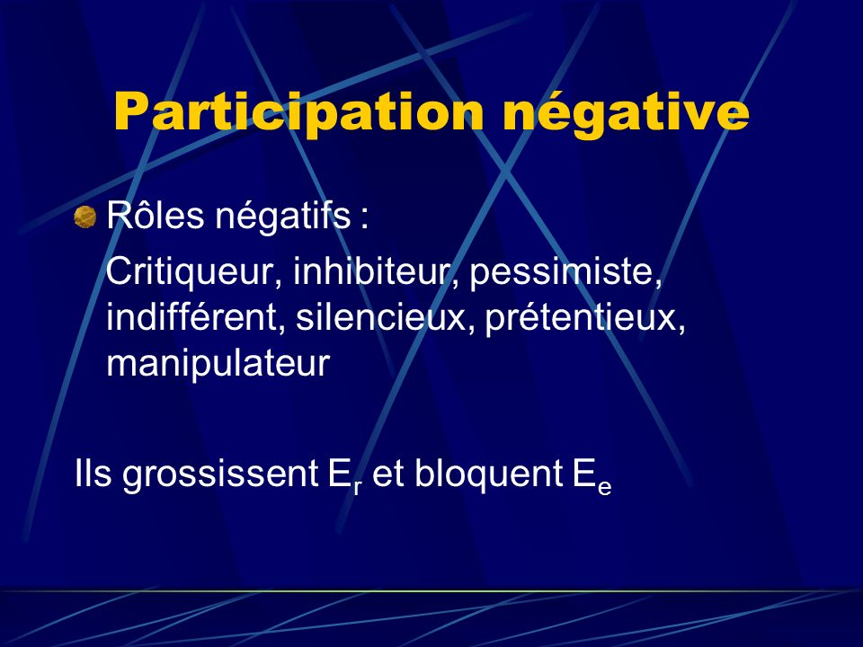 Participation négative