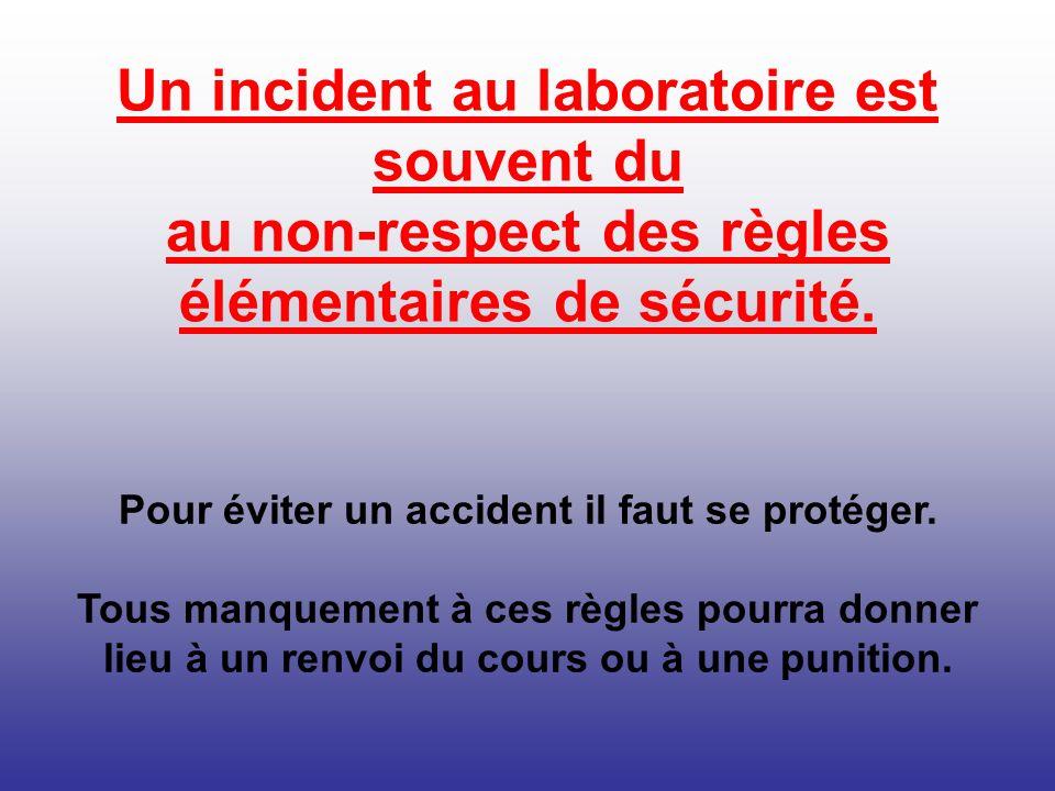 Pour éviter un accident il faut se protéger.