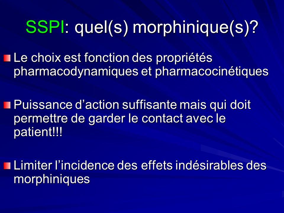 SSPI: quel(s) morphinique(s)