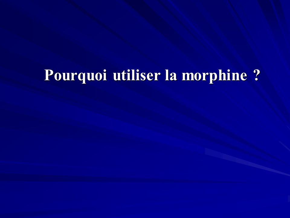 Pourquoi utiliser la morphine