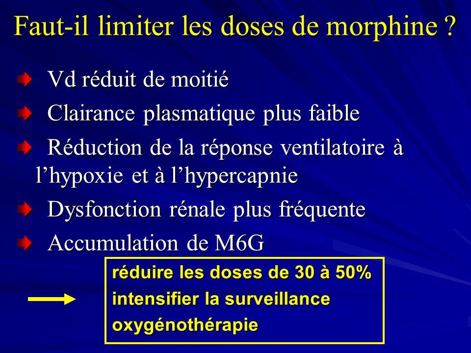 Faut-il limiter les doses de morphine