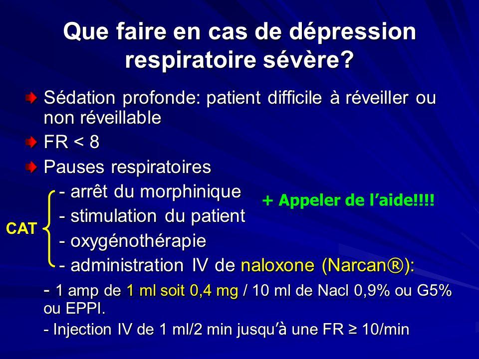 Que faire en cas de dépression respiratoire sévère