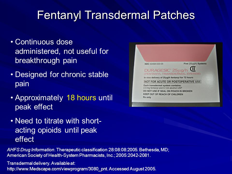 Fentanyl Transdermal Patches