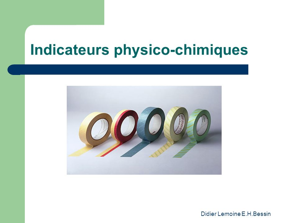 Indicateurs physico-chimiques