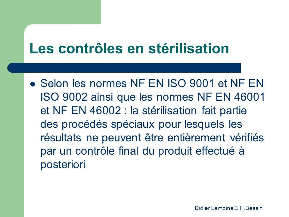 Les contrôles en stérilisation