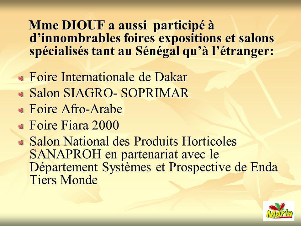 Foire Internationale de Dakar Salon SIAGRO- SOPRIMAR Foire Afro-Arabe