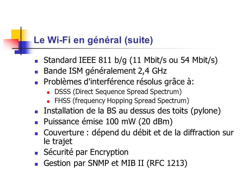 Le Wi-Fi en général (suite)