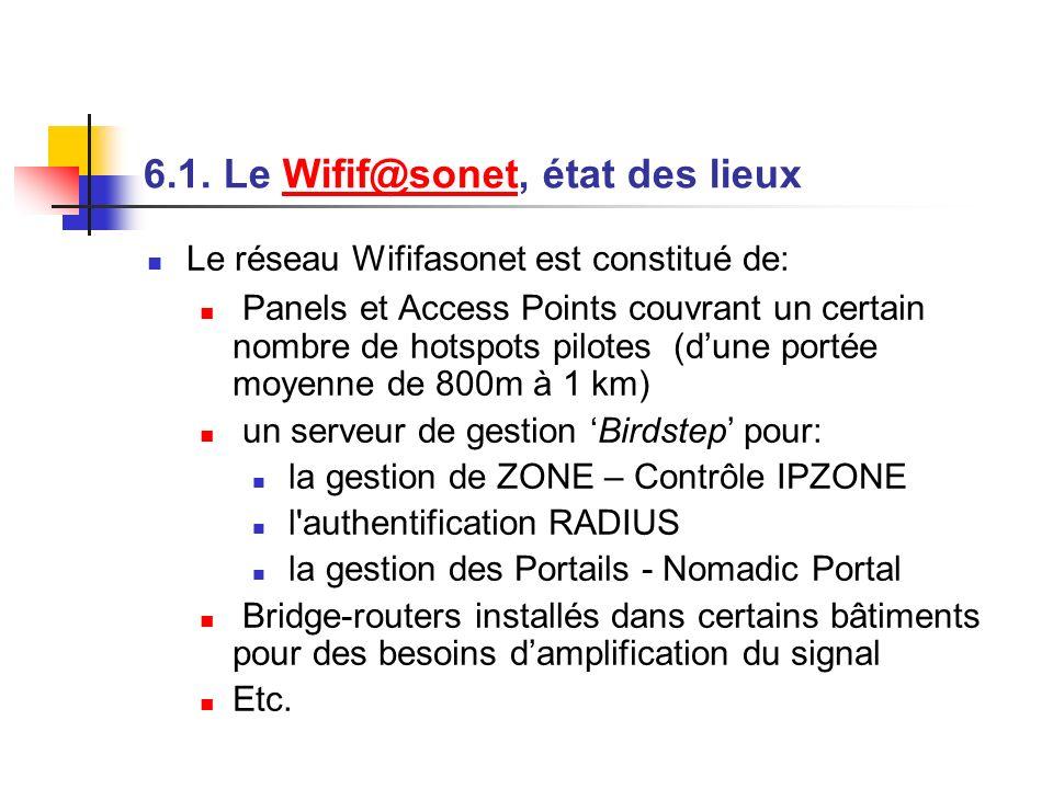 6.1. Le Wifif@sonet, état des lieux