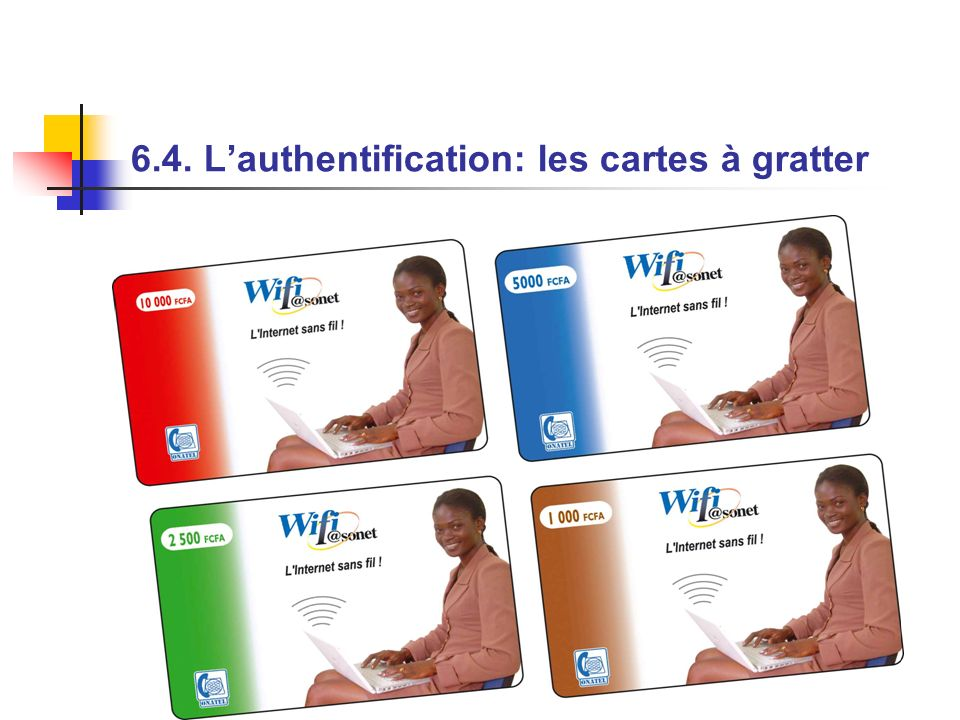 6.4. L'authentification: les cartes à gratter
