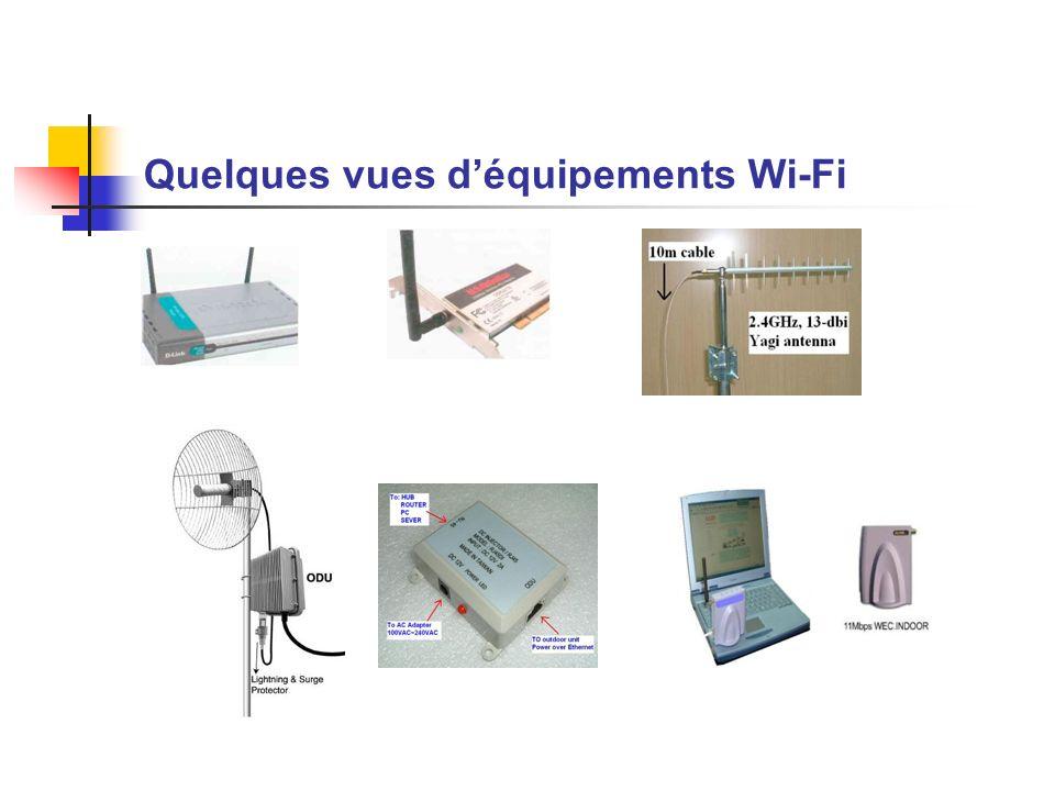 Quelques vues d'équipements Wi-Fi