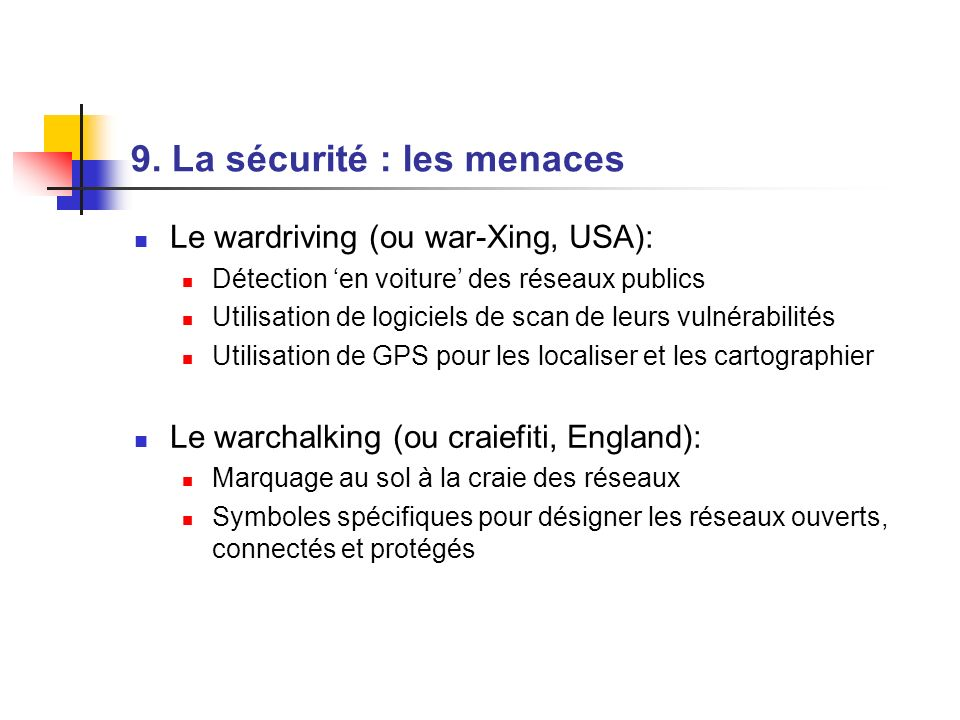 9. La sécurité : les menaces