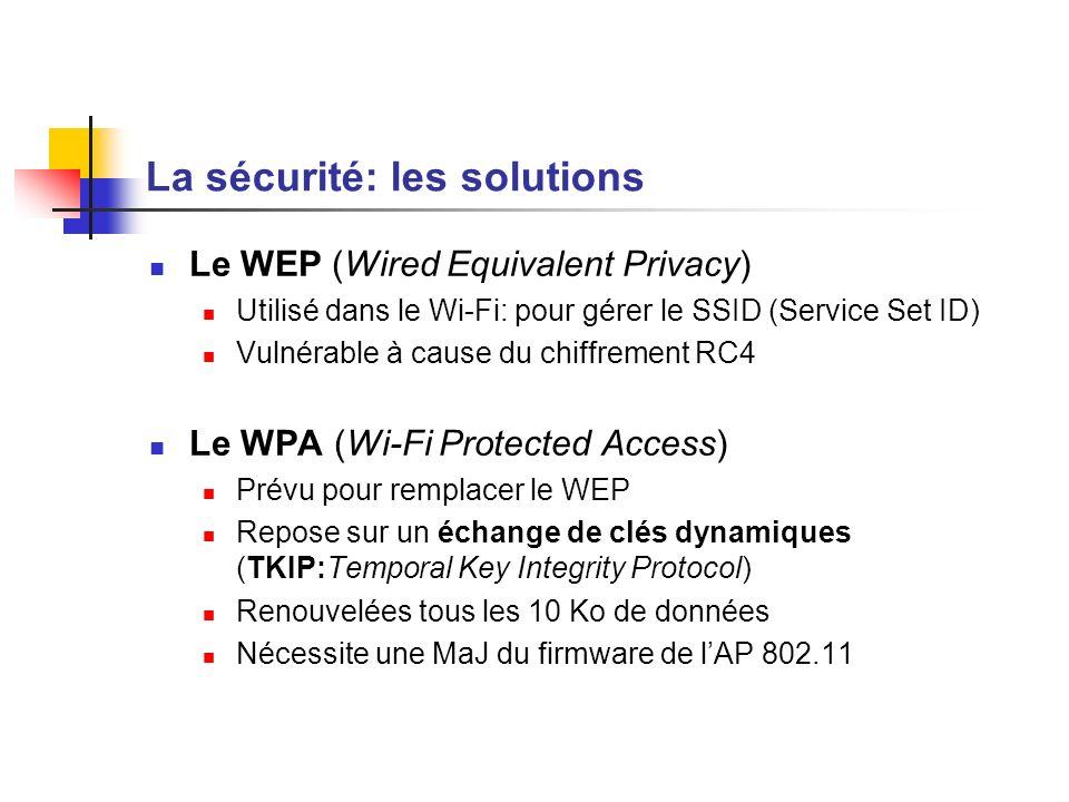 La sécurité: les solutions