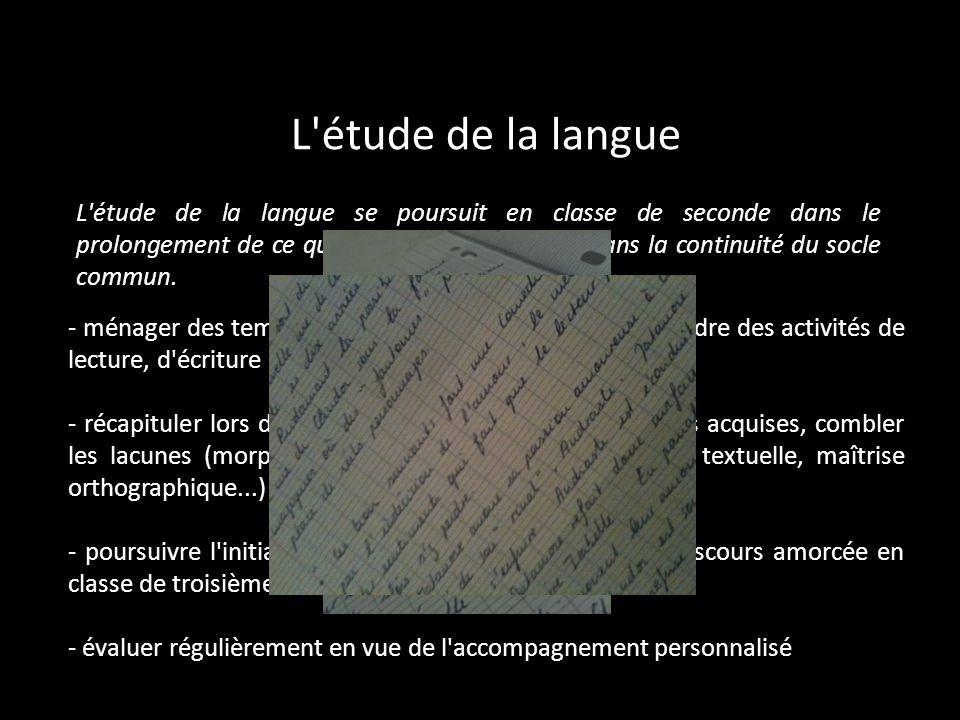 L étude de la langue