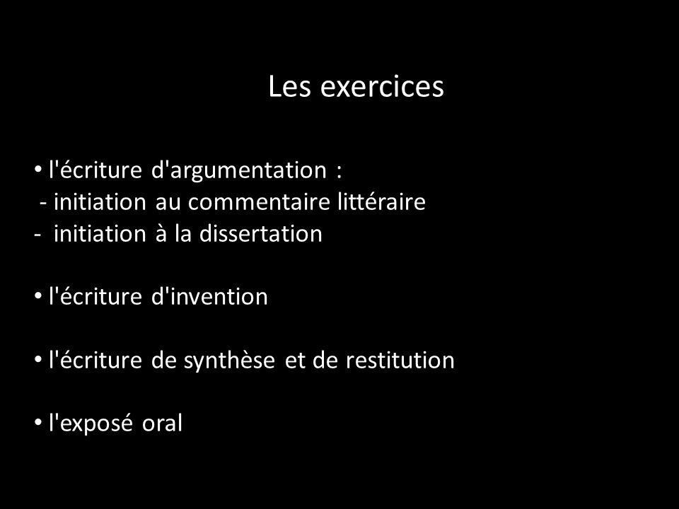 Les exercices l écriture d argumentation :