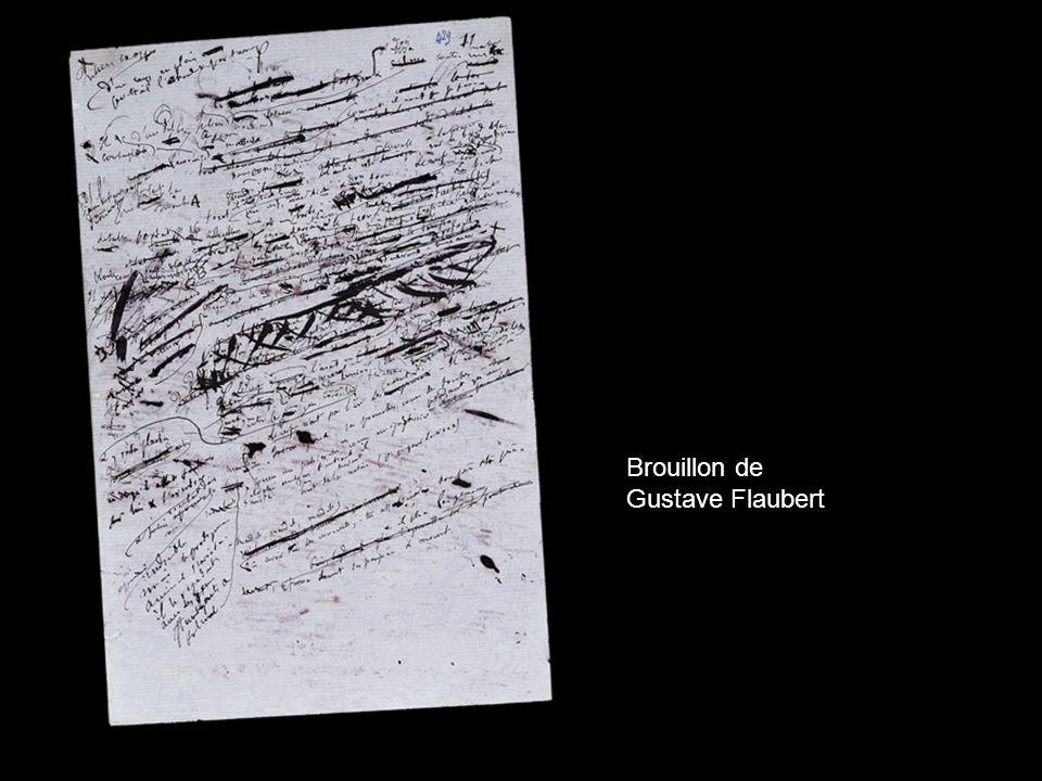 Brouillon de Gustave Flaubert