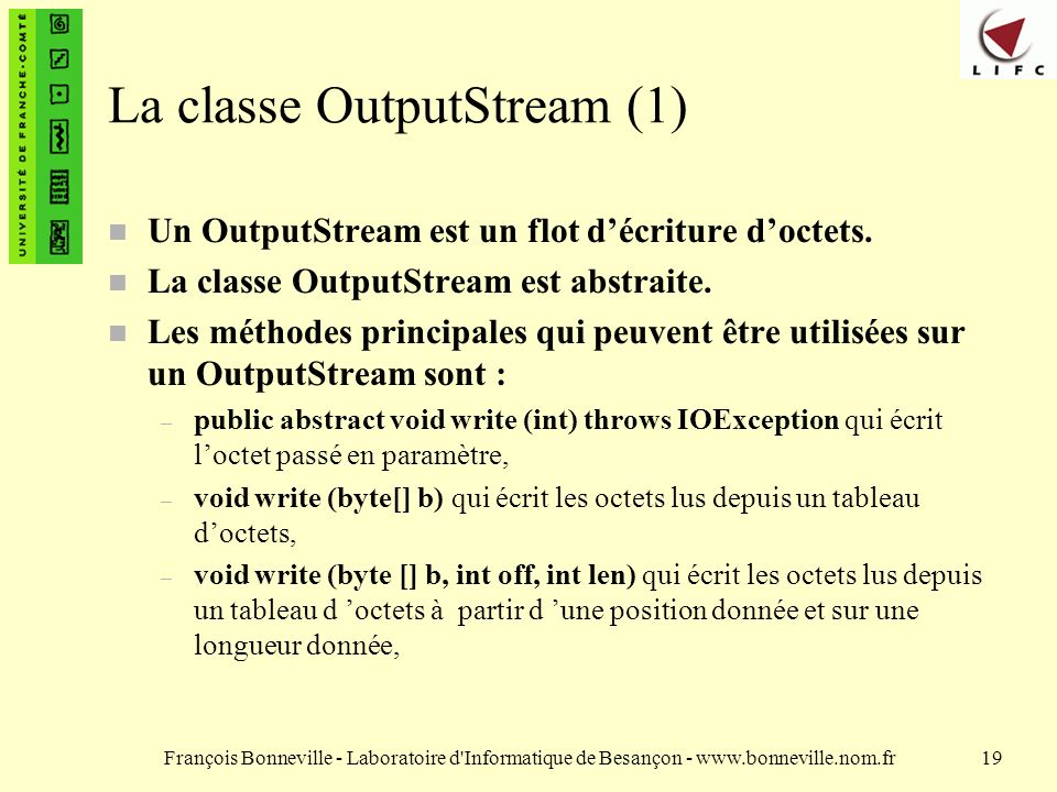 La classe OutputStream (1)