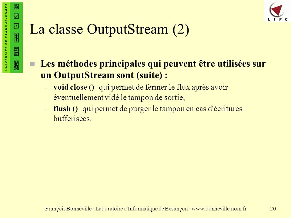 La classe OutputStream (2)