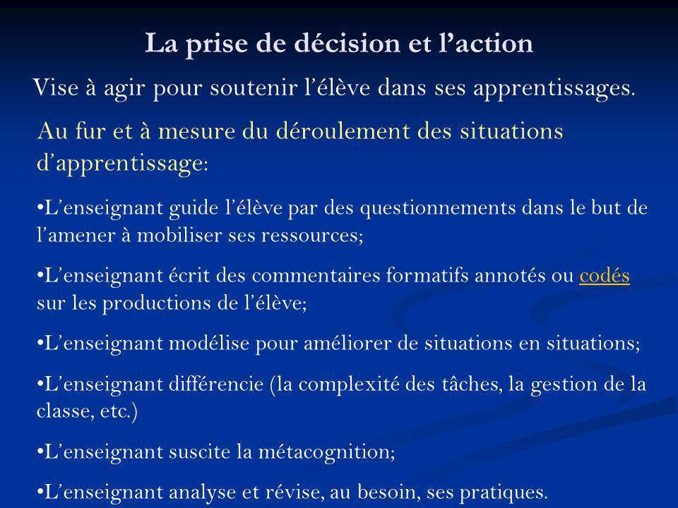 La prise de décision et l'action