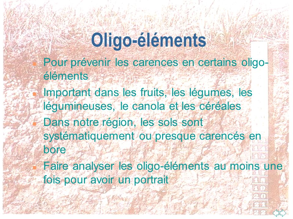 Oligo-éléments Pour prévenir les carences en certains oligo-éléments