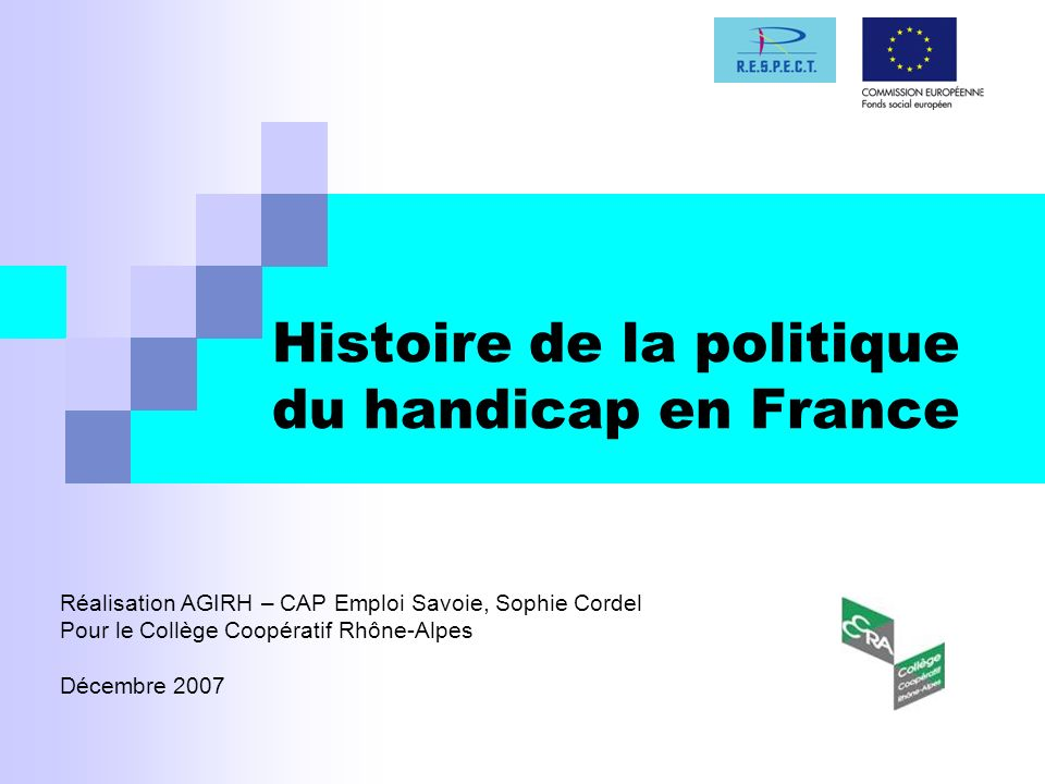 Histoire de la politique du handicap en France