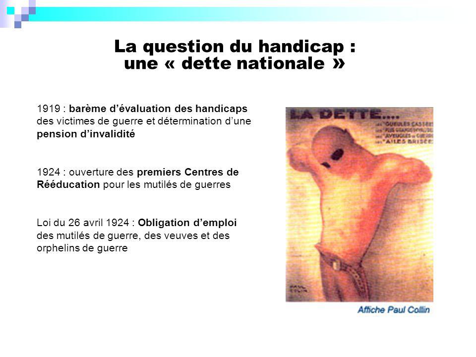 La question du handicap : une « dette nationale »