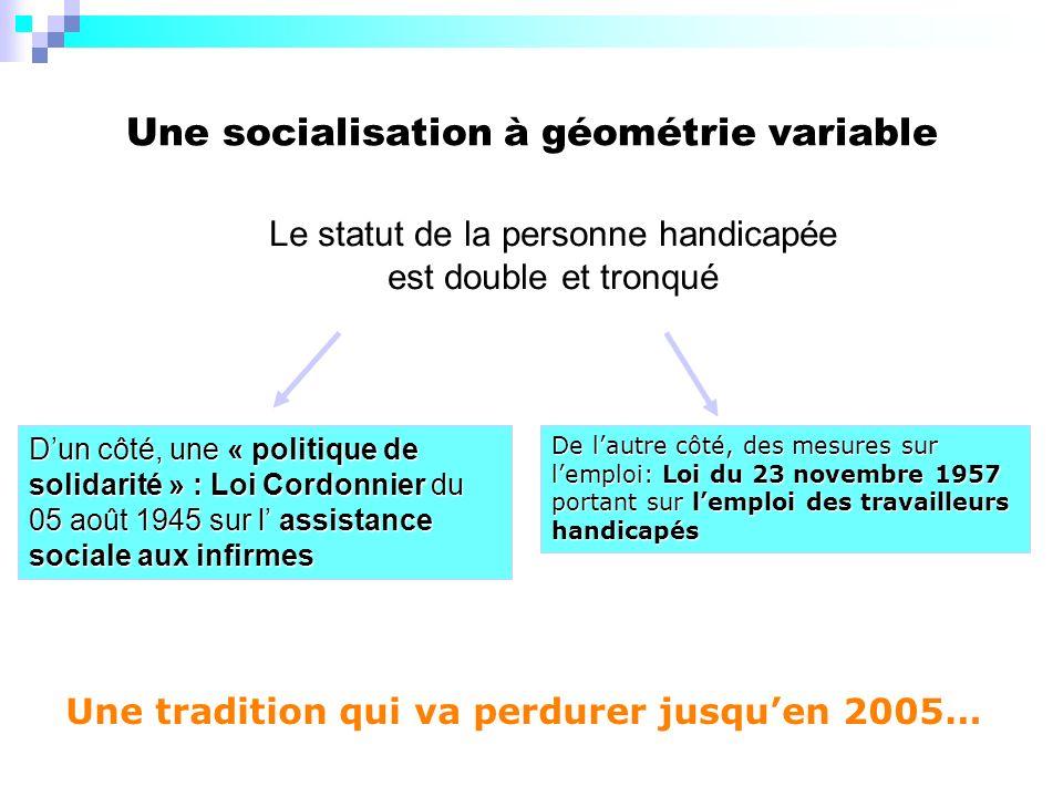 Une socialisation à géométrie variable