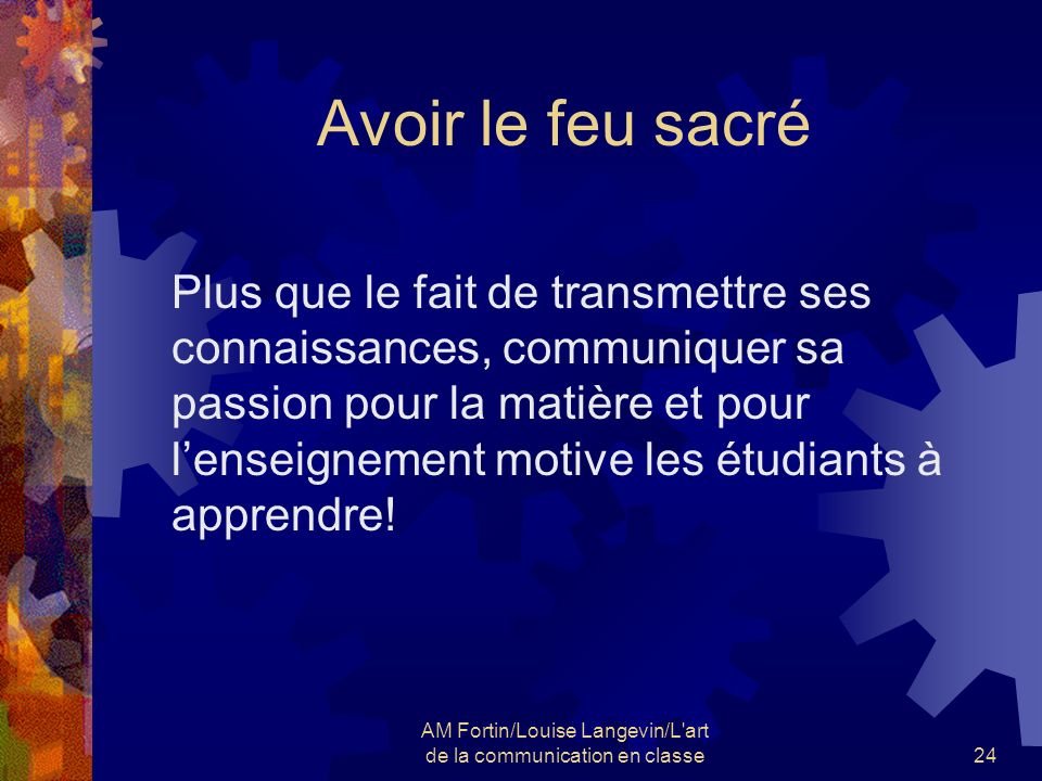 AM Fortin/Louise Langevin/L art de la communication en classe