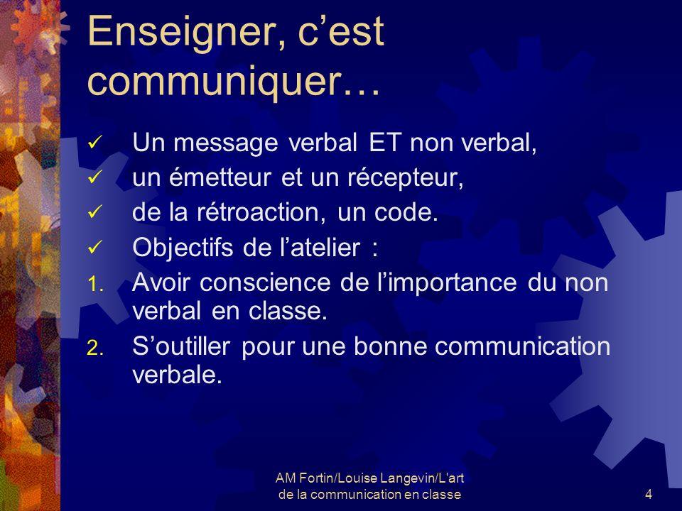 Enseigner, c'est communiquer…