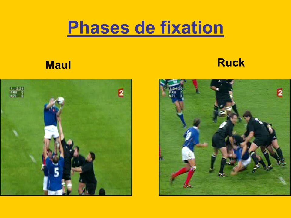 Phases de fixation Ruck Maul