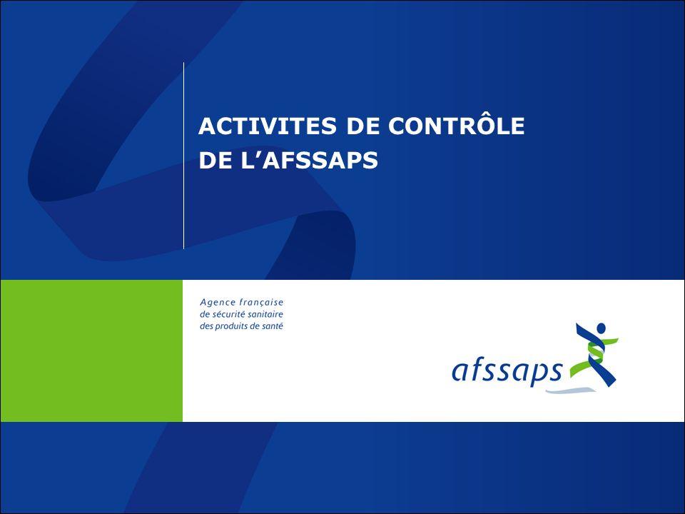 ACTIVITES DE CONTRÔLE DE L'AFSSAPS