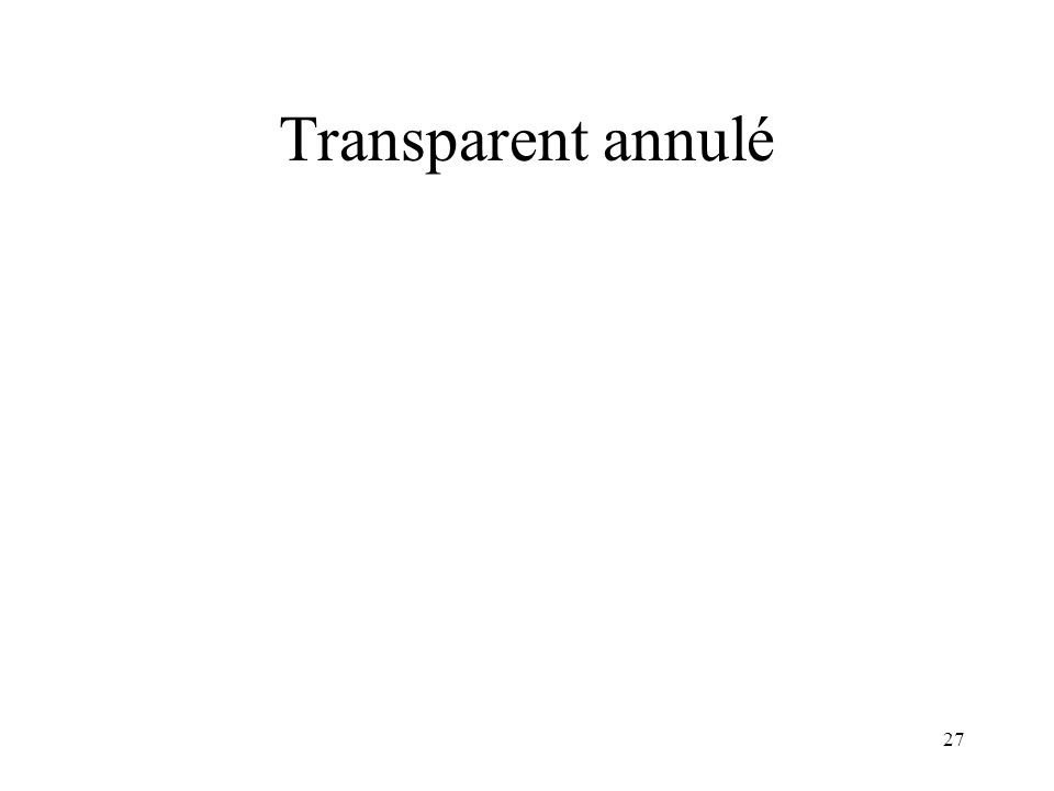 Transparent annulé
