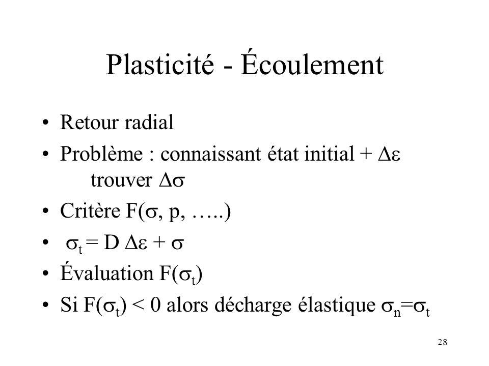 Plasticité - Écoulement