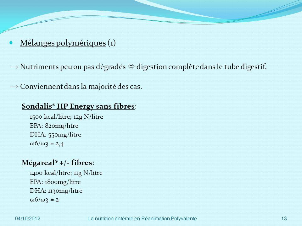 Mélanges polymériques (1)