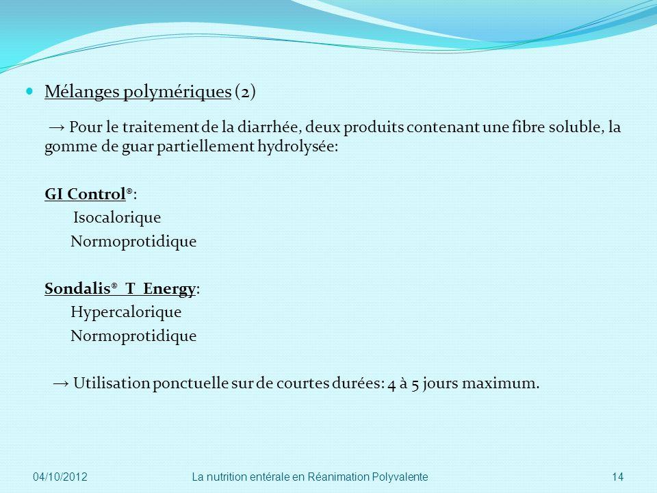 Mélanges polymériques (2)