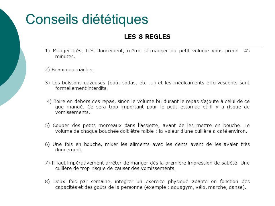 Conseils diététiques LES 8 REGLES