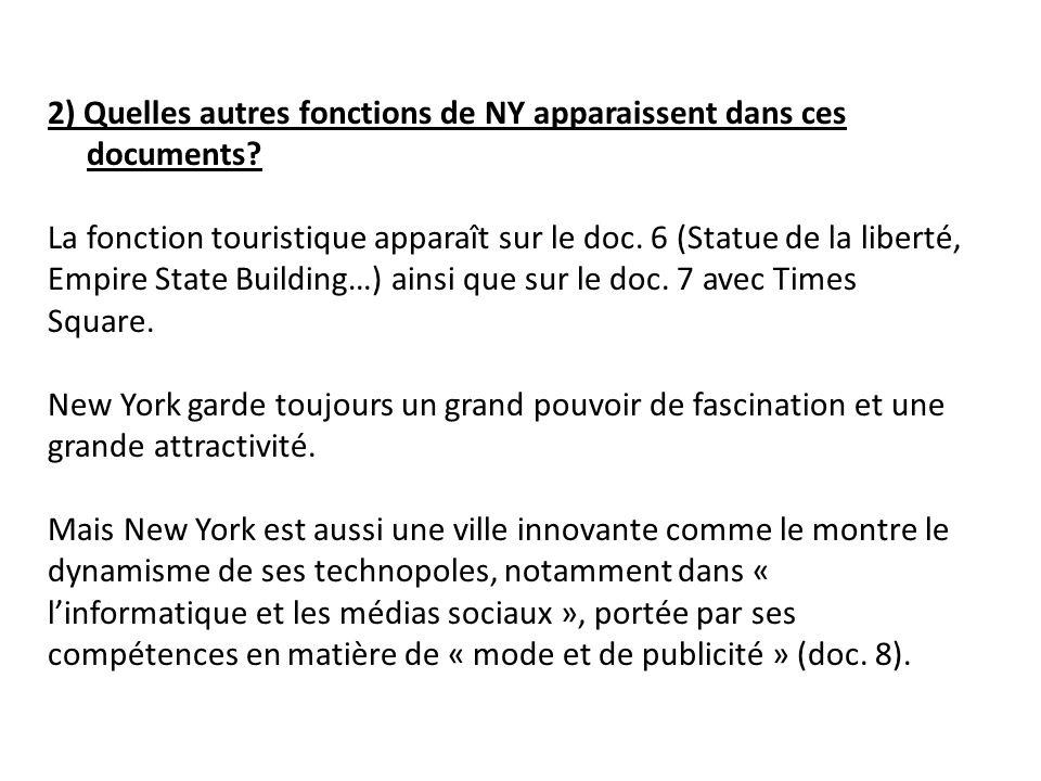 2) Quelles autres fonctions de NY apparaissent dans ces documents