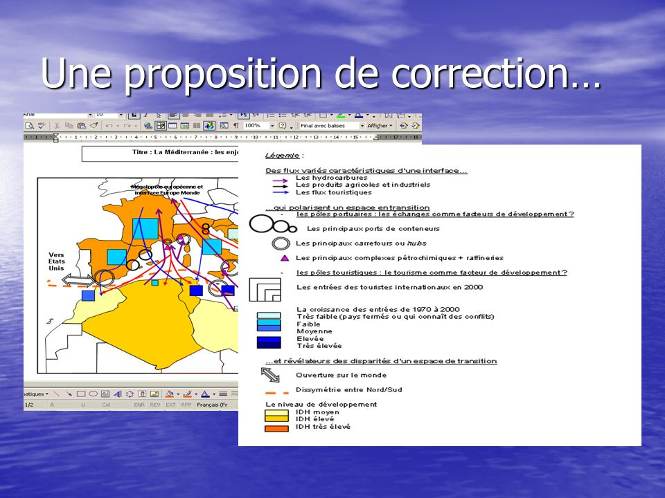 Une proposition de correction…