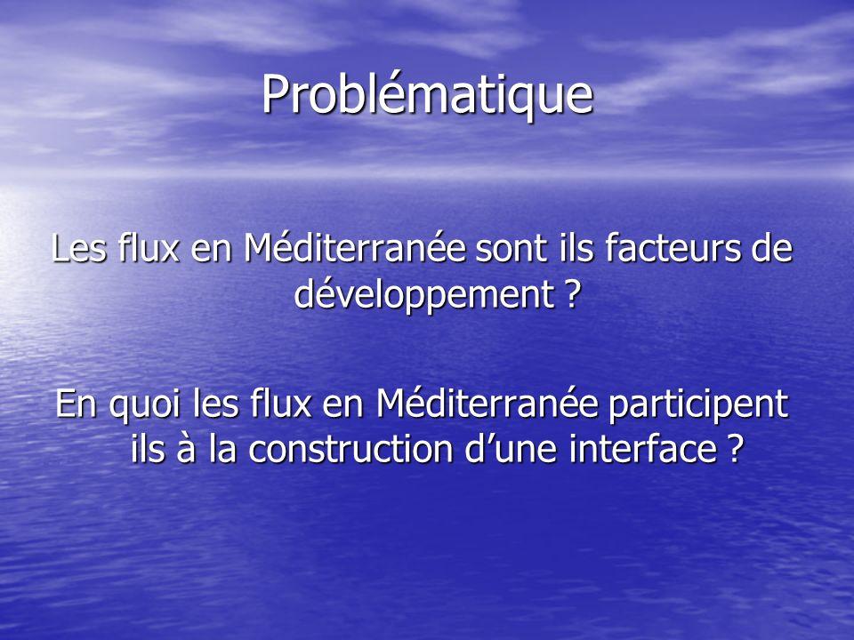 Les flux en Méditerranée sont ils facteurs de développement