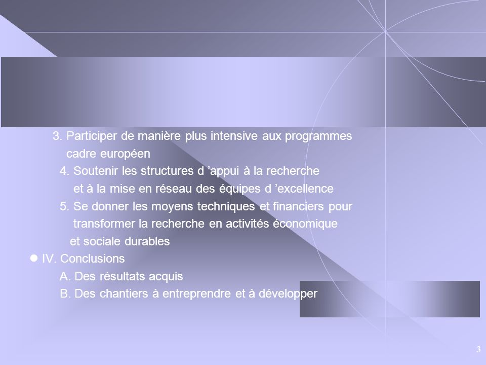 4. Soutenir les structures d 'appui à la recherche