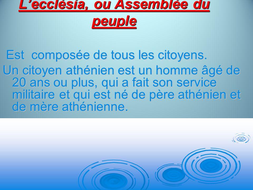 L'ecclésia, ou Assemblée du peuple