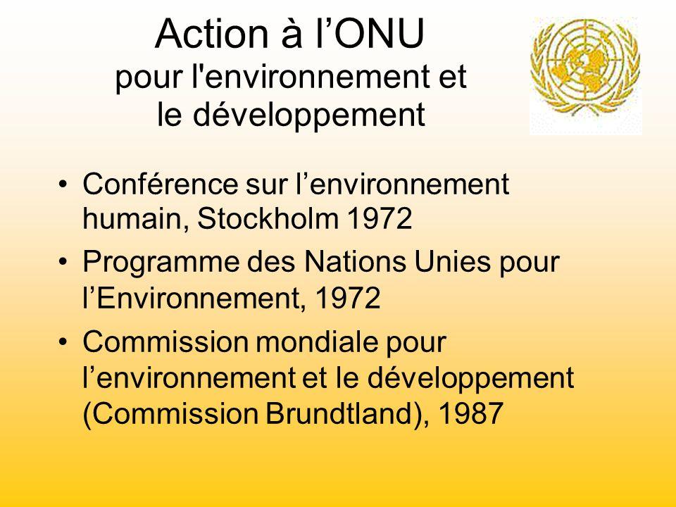 Action à l'ONU pour l environnement et le développement