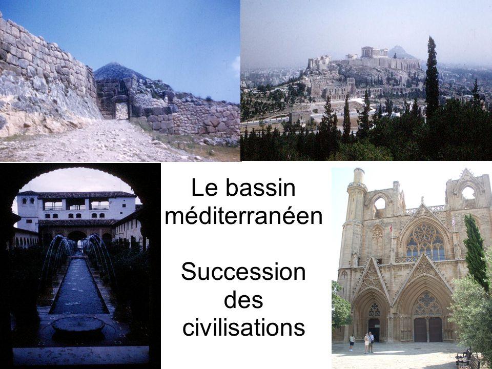 Le bassin méditerranéen Succession des civilisations