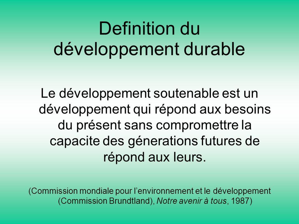 Definition du développement durable