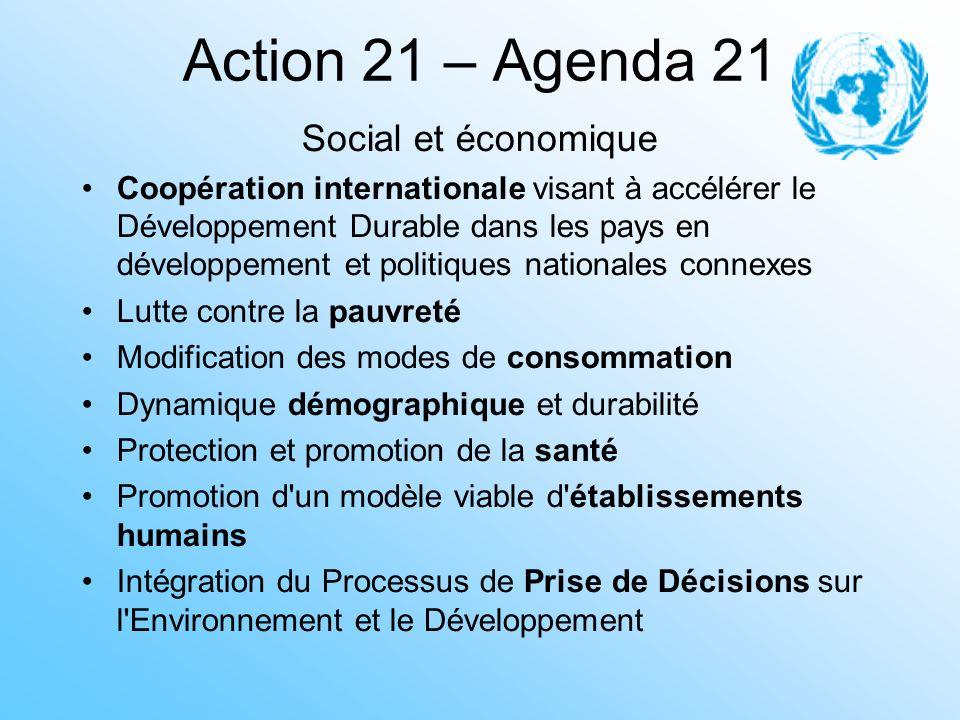 Action 21 – Agenda 21 Social et économique