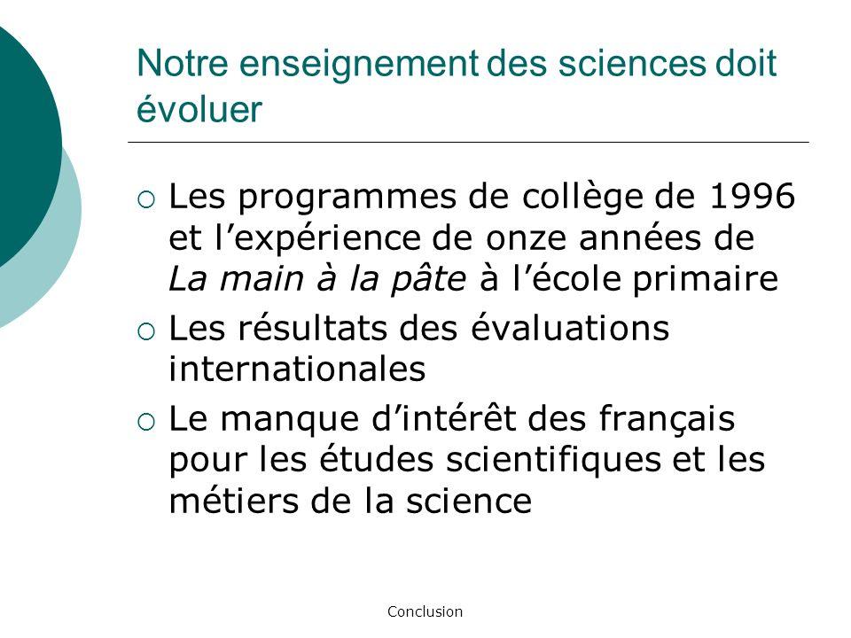 Notre enseignement des sciences doit évoluer