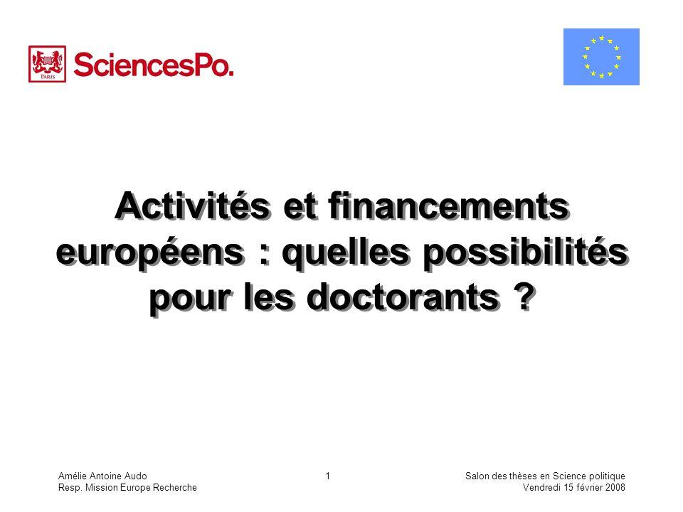 Activités et financements européens : quelles possibilités pour les doctorants