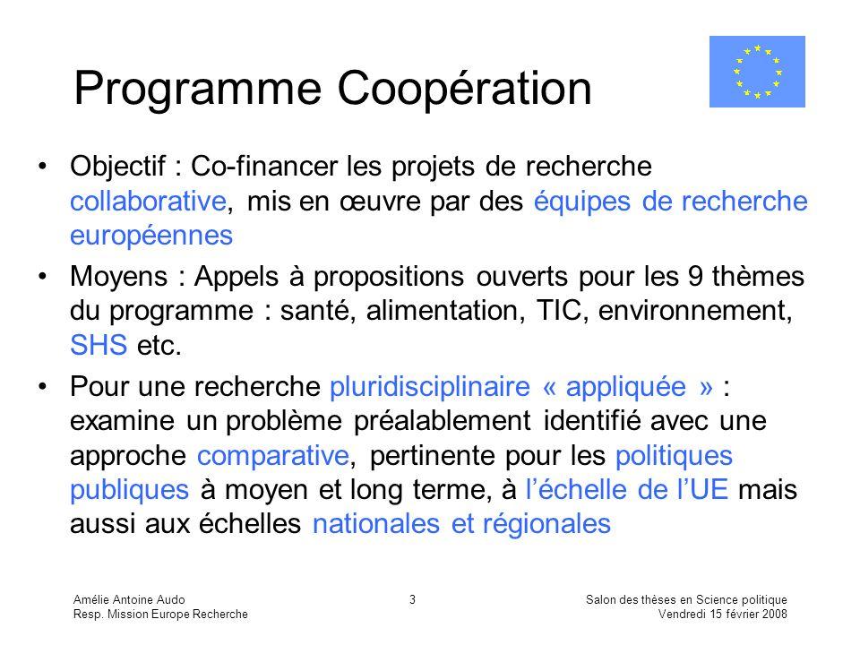 Programme Coopération